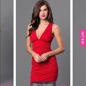 Red Cocktail Dress for Women